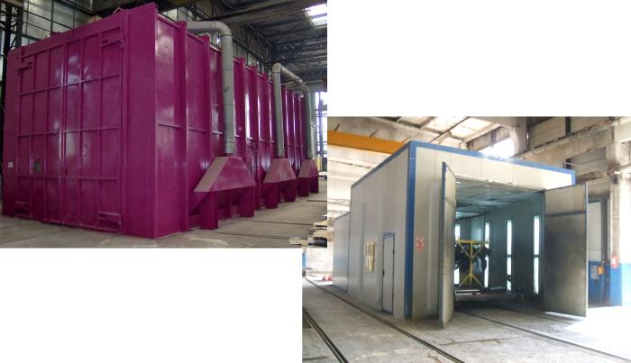 Instalatii de Sablare - Cabina de Vopsire Automatizata