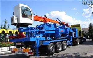 Mobile balers for compaction of car-body scraps